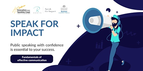 Speak for Impact - Fundamentals of effective communication tickets