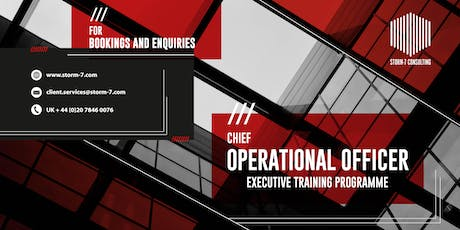 STORM-7 CONSULTING - COO Executive Training Programme (SINGAPORE) tickets