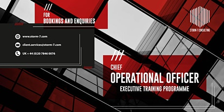 STORM-7 CONSULTING - COO Executive Training Programme (PHILIPPINES) tickets