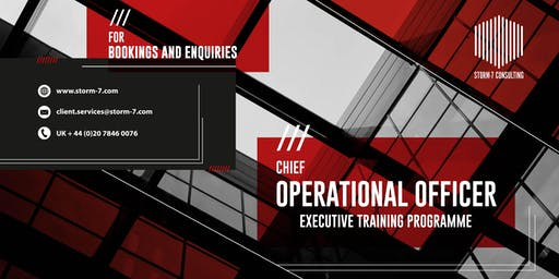 STORM-7 CONSULTING - COO Executive Training Programme (PHILIPPINES)