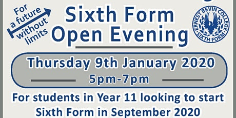 Sixth Form Open Evening tickets