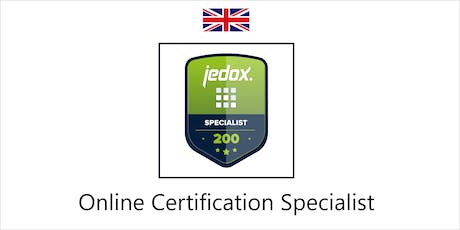 Jedox Online Certification (Specialist-Level) tickets