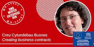 Creu Cytundeb - Creating a contract