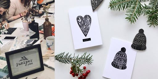 Chapelton Christmas Lino Printing Workshop with Juniper Press