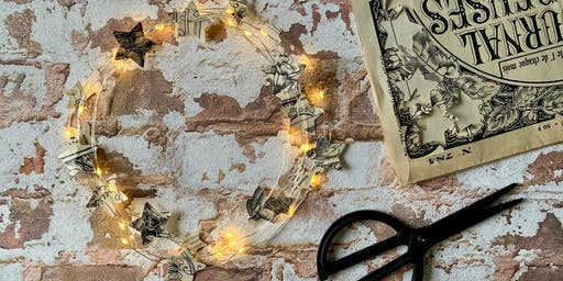 Atelier couronne lumineuse étoiles de papier