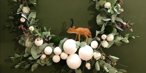 Atelier couronne de Noël végétale