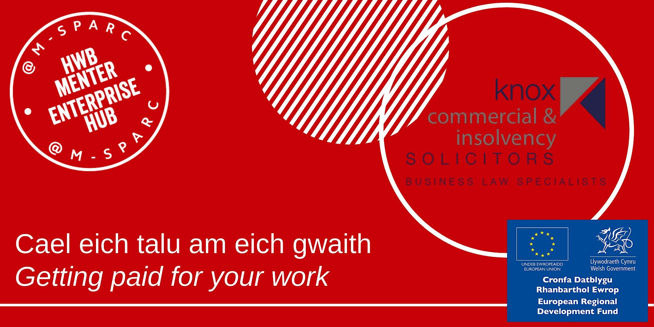 Sut i gael eich talu - How to get paid