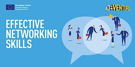 Adventure Business Workshop in Bradford -  Effective Networking Skills tickets