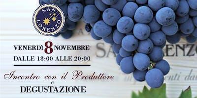 San Lorenzo Vini - degustazione con il produttore