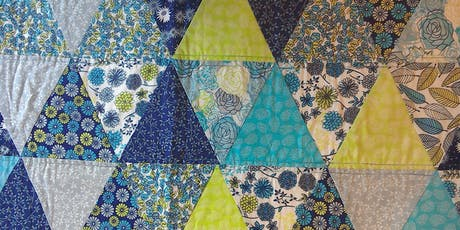 Intermediate Machine Patchwork – Floral Sketches Equilateral Triangle Quilt tickets
