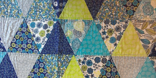 Floral Sketches Equilateral Triangle Quilt - OPTIONAL FINISHING OFF DAY
