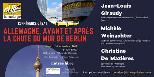 """Conférence-débat """"Allemagne, avant et après la chute du mur de Berlin"""""""