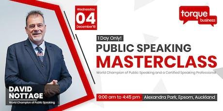 Public Speaking Masterclass by David Nottage (World Champion) tickets