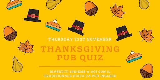 Thanksgiving Pub Quiz