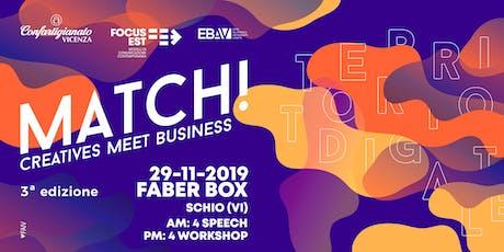 MATCH 2019 - SPEECH biglietti
