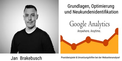 Webseitenanalyse mit Google Analytics
