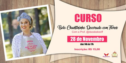 CURSO BOLO CHANTININHO DECORADO COM FLORES