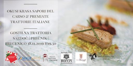 Okusi Krasa Sapori del Carso - Premiate trattorie italiane 18.11.2019