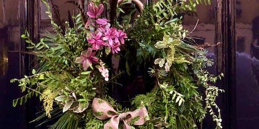 Festive Wreath Making Workshop in Bath