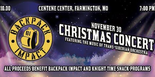 Backpack Impact Christmas Concert