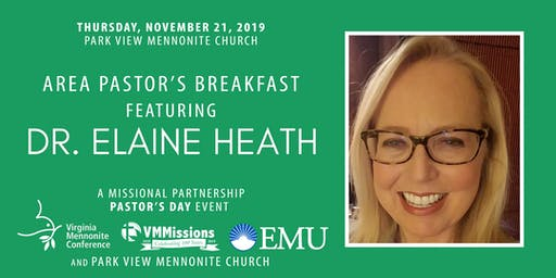 Area Pastor's Breakfast with Dr. Elaine Heath