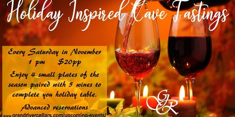 Holiday Inspired Cave Tastings tickets