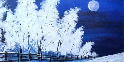 First Snow 'Paint, Prosecco & Pies' Brush Party - High Wycombe