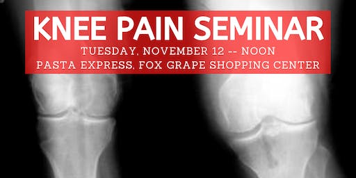 Knee Pain Lunch Seminar, hosted by Ozzie Smith Center - Nov. 12