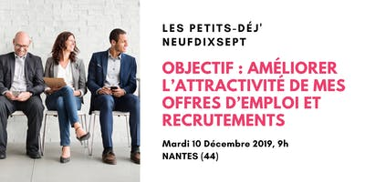 Améliorer l'attractivité de mes offres d'emploi et recrutements (Nantes)