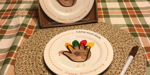 Thanksgiving Cookie and Plate Decorating Event