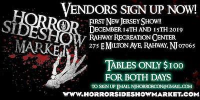 Horror Sideshow Market Holiday December 2019 Vendor Sign up