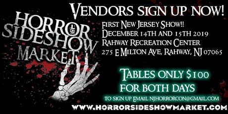 Horror Sideshow Market Holiday December 2019 Vendor Sign up tickets
