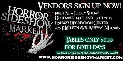 Horror Sideshow Market Holiday December 2019 Vendor Sign up