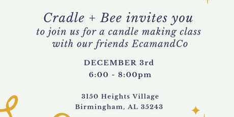 Holiday Candle Making Class tickets
