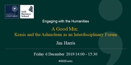Engaging with the Humanities - Dr Jim Harris, Ashmolean Museum  tickets