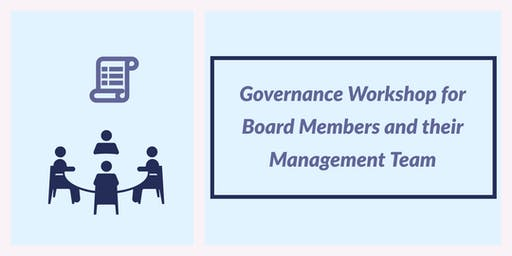 Governance Workshop for Board Members and their Management Team