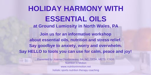 Holiday Harmony with essential oils