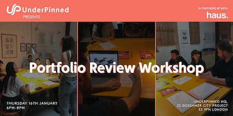 Portfolio Review Workshop: Experience Haus x UnderPinned tickets