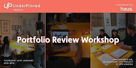 Portfolio Review Workshop: Experience Haus x UnderPinned tickets