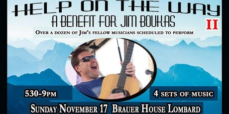Help On the Way - A Benefit for Jim Boukas at BHouse LIVE tickets
