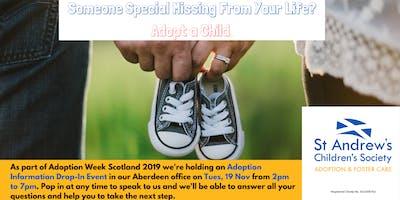 Adoption Information Drop-In Event, Aberdeen Office
