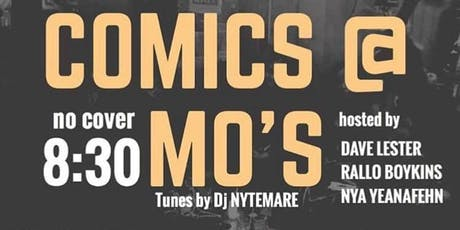 Sunday Comics at Mo's tickets