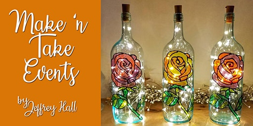 Make 'n Take - Stained Glass Wine Bottle - Rose
