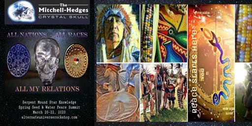 Serpent mound Crystal Star Knowledge Seed Water Peace Summit. 2020
