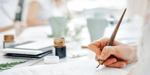 Modern Calligraphy beginners &  John Lewis & Partners Southampton 23 NOV