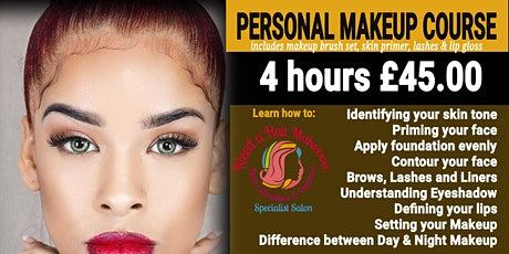 November 4 hours Personal Makeup course tickets
