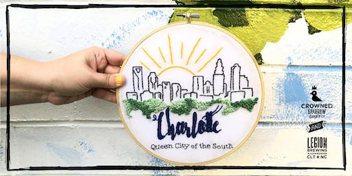 Crowned Sparrow Co.: Stitch the Skyline! Charlotte Edition