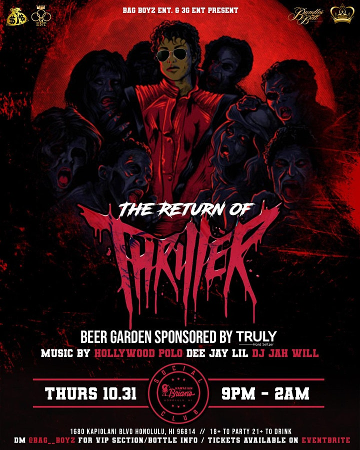 RETURN OF THE THRILLER - HALLOWEEN PARTY image