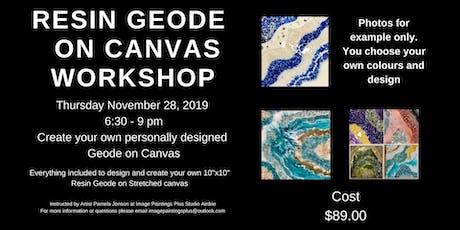 Resin Geode on Canvas Workshop tickets