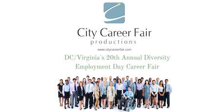 DC/VIRGINIA'S 20th ANNUAL DIVERSITY EMPLOYMENT DAY CAREER FAIR, April 1, 2020 tickets